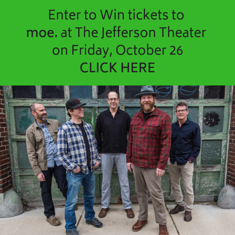 Enter to Win tickets to moe.at The Jefferson Theater on Friday, October 26